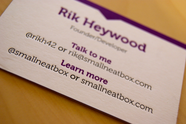 Small Neat Box - Triplex business card