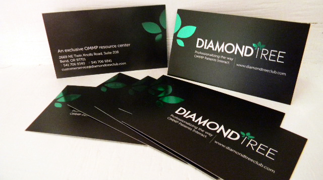 Diamond Tree - Silk Stock & Foil Stamped business card